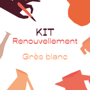KIT renouvellement – grès blanc – A RETIRER SUR PLACE